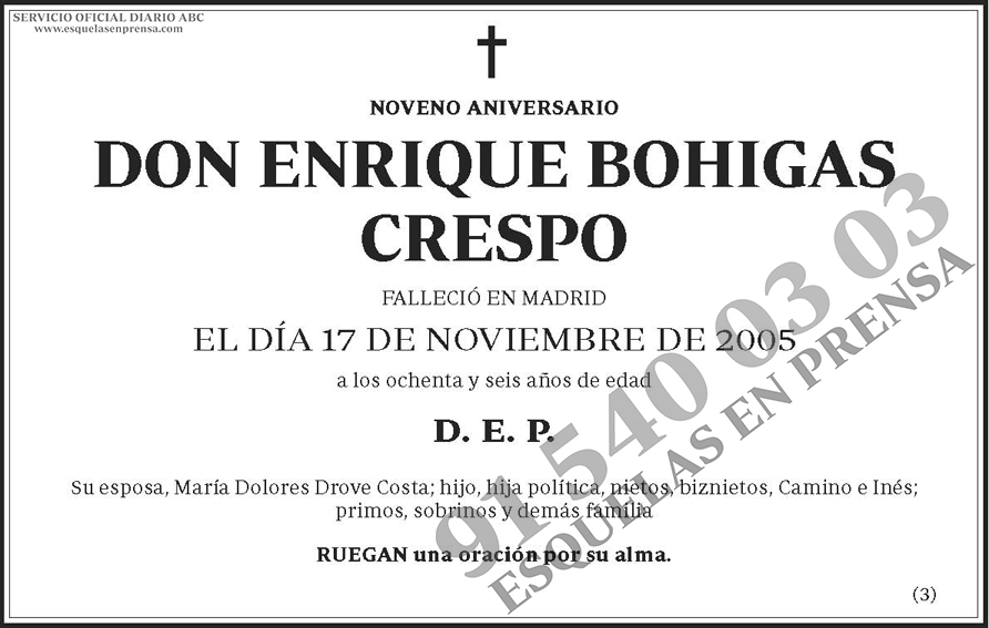 Enrique Bohigas Crespo